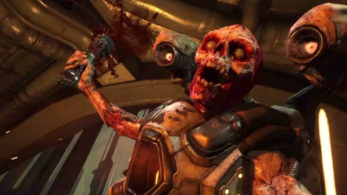 Doom is filled with enemies that just want to tear you limb from limb.