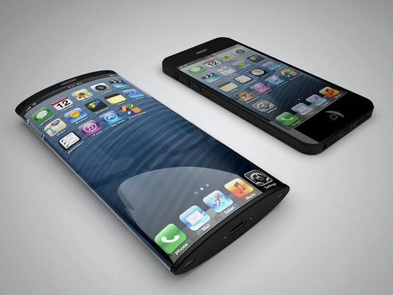 Curved iPhone concept art from Nickolay Lamm and Matteo Gianni from MyVoucherCodes.