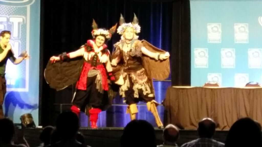 """The lady shown on the right, the """"moth fairy."""" Had I known she would win, and had my phone not died just before the awards, I'd have taken more detailed pictures."""