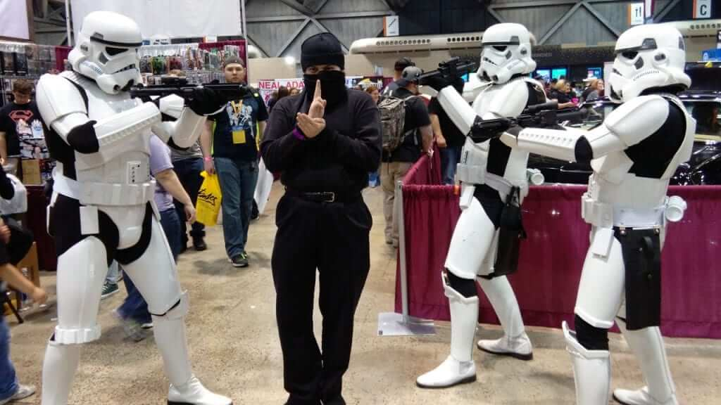 These poor stormtroopers don't know what they're getting themselves into. I'm the ninja, by the way!