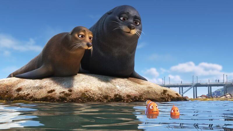 Idris Elba voices a seal in Finding Dory in one of the most funny scenes in the movie.