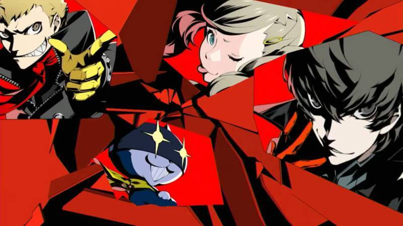 The colourful cast of Persona 5.