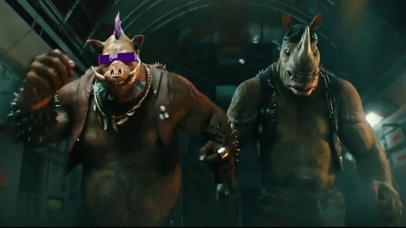 Bebop and Rocksteady are sure to be your favorite part of TMNT 2.