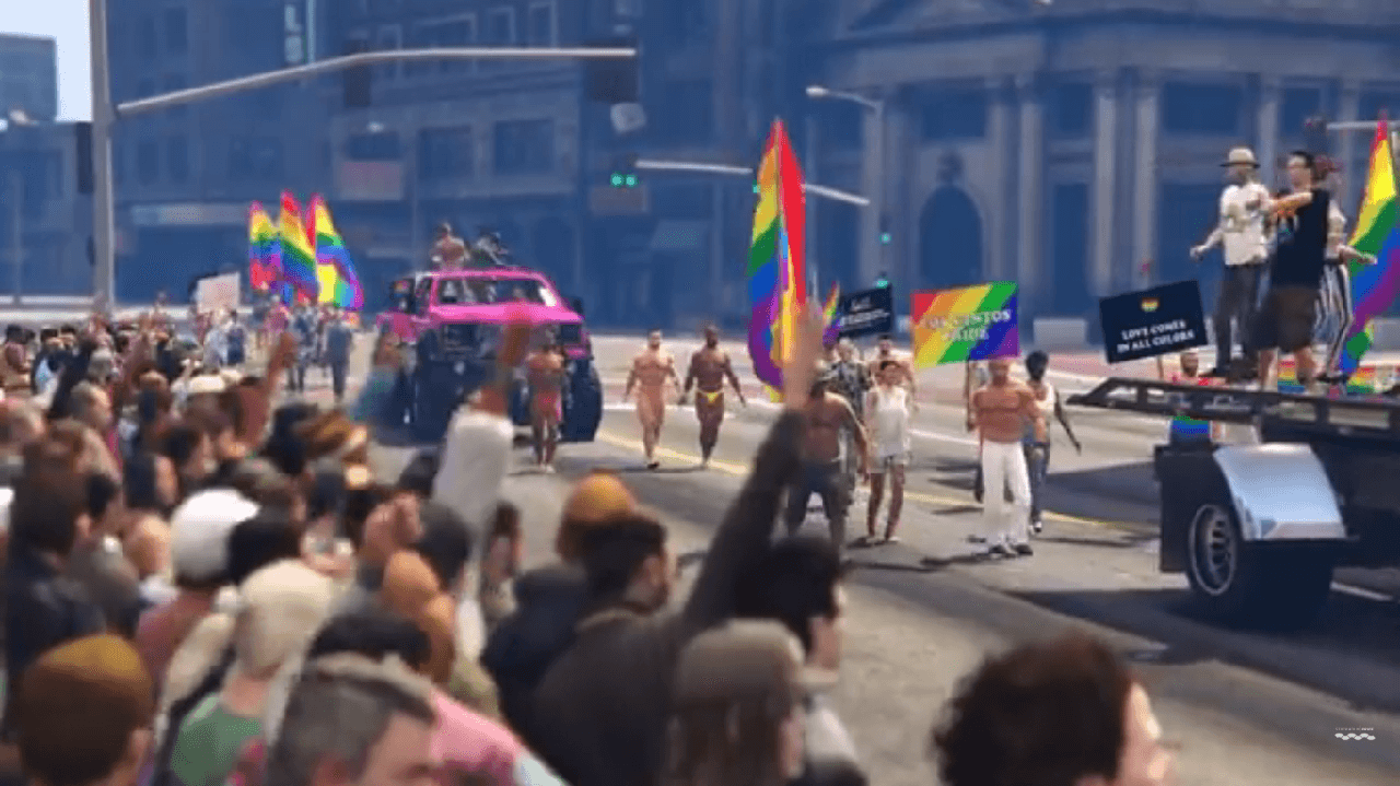 GTA V Mod Creates Parade To Honor Orlando Victims