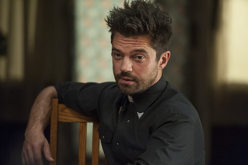 Dominic Cooper as Preacher sitting