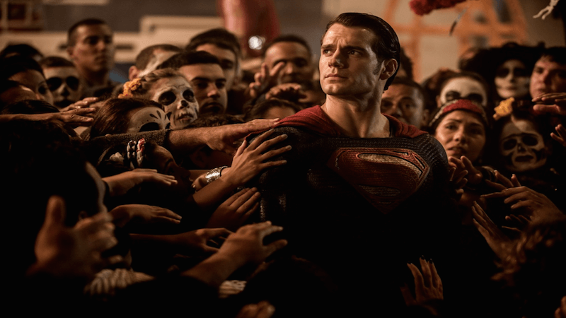 Superman does not make an appearance in the trailers.