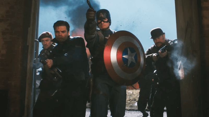 Chris Evans owns the role of Captain America