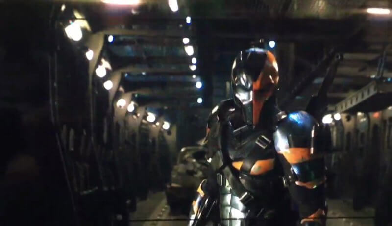 Deathstroke as he appeared in Affleck's footage.