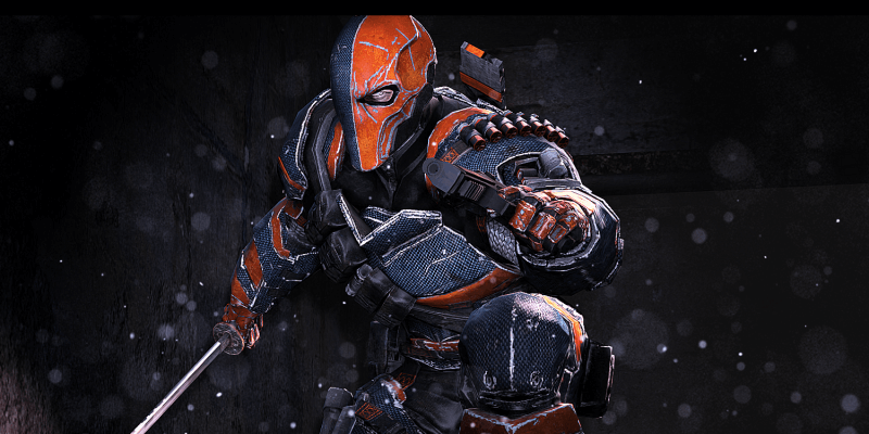 The deadly assassin Deathstroke.