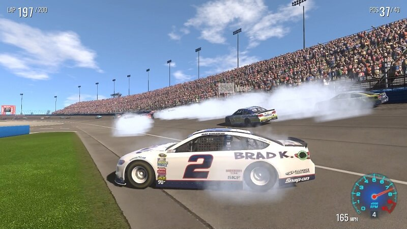 Spinning out in Nascar on Xbox One