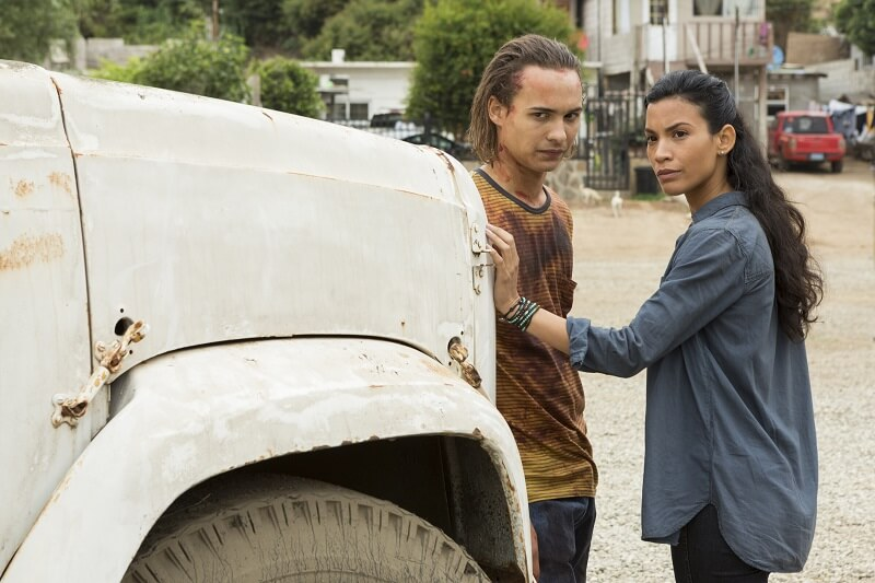 Fear the Walking Dead Luciana and Nick having a private conversation