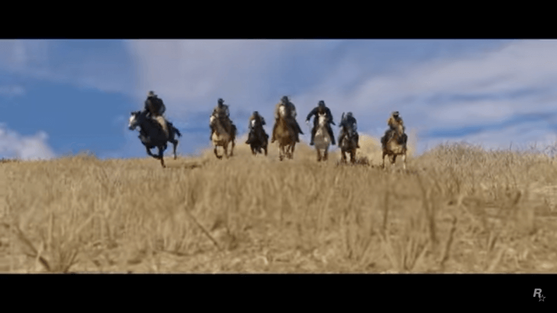The seven mystery men from the Read Dead Redemption 2 teaser poster