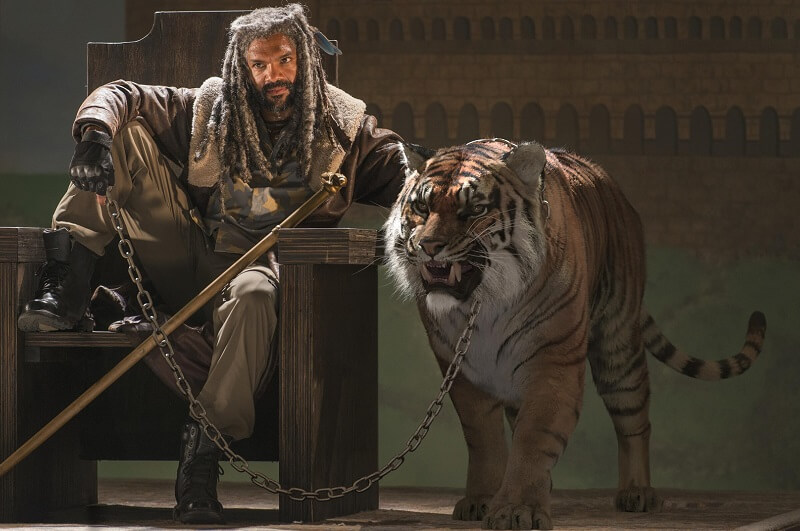 King Ezekiel and Shiva in the Walking Dead