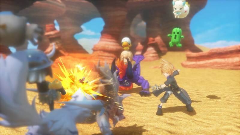 Battle is colourful and fun in World of Final Fantasy.