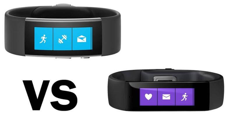 Each iteration of the Microsoft Band