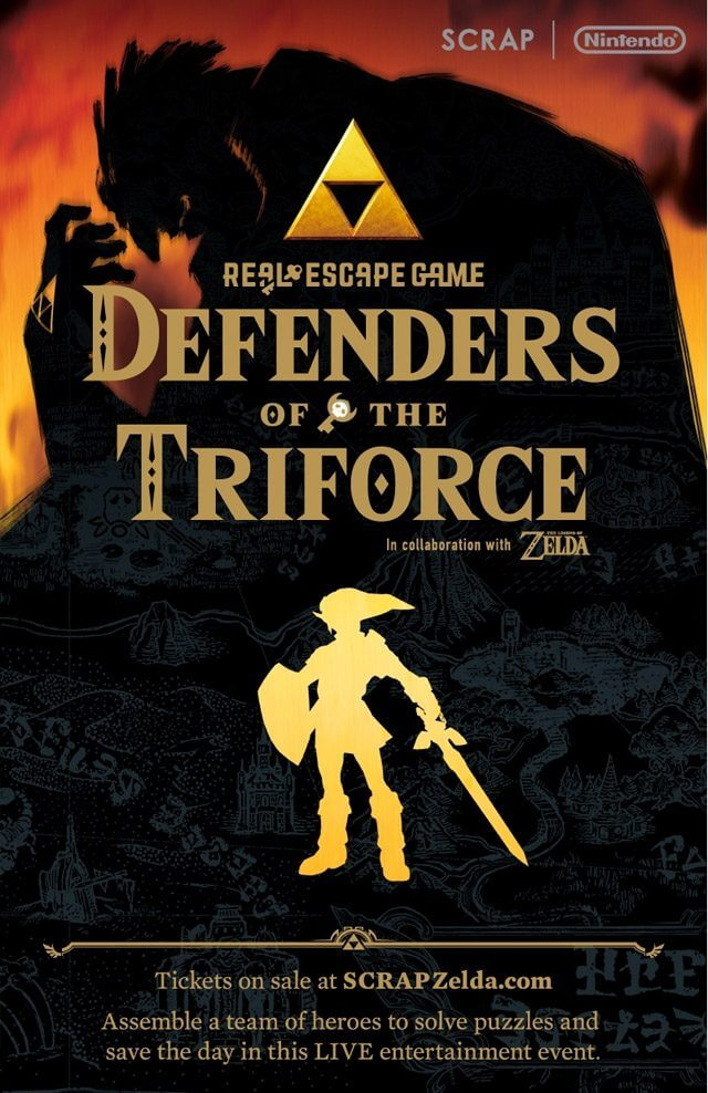 "Promotional poster for ""Defenders of the Triforce"" U.S. Tour"