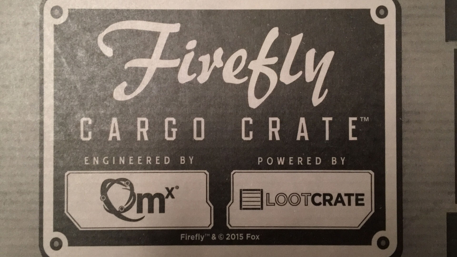 Firefly Cargo Crate:  Zoe Washburne Review