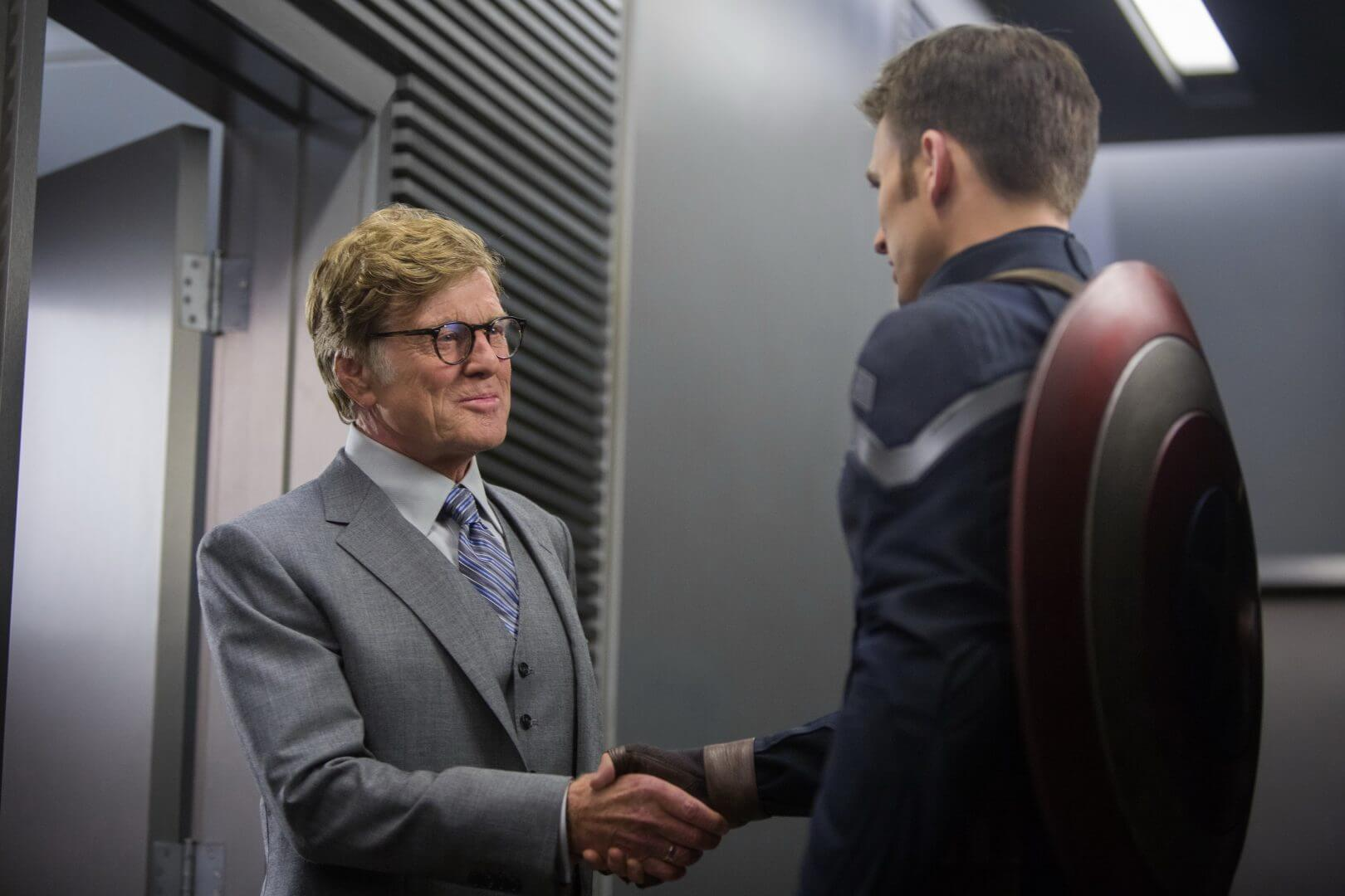Robert Redford as Alexander Pierce in Captain America: The Winter Soldier.