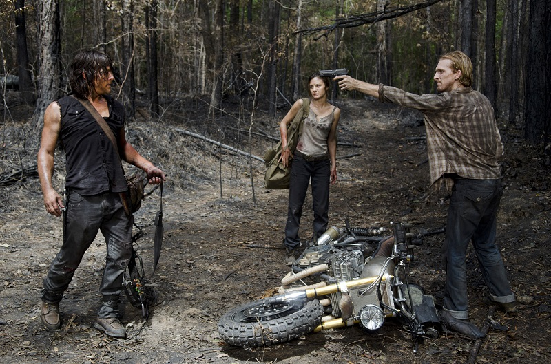 The Walking Dead season six dwight, sherry and daryl