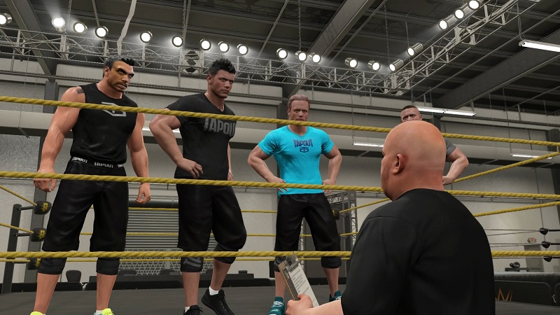 WWE 2K17 NXT training with created superstar