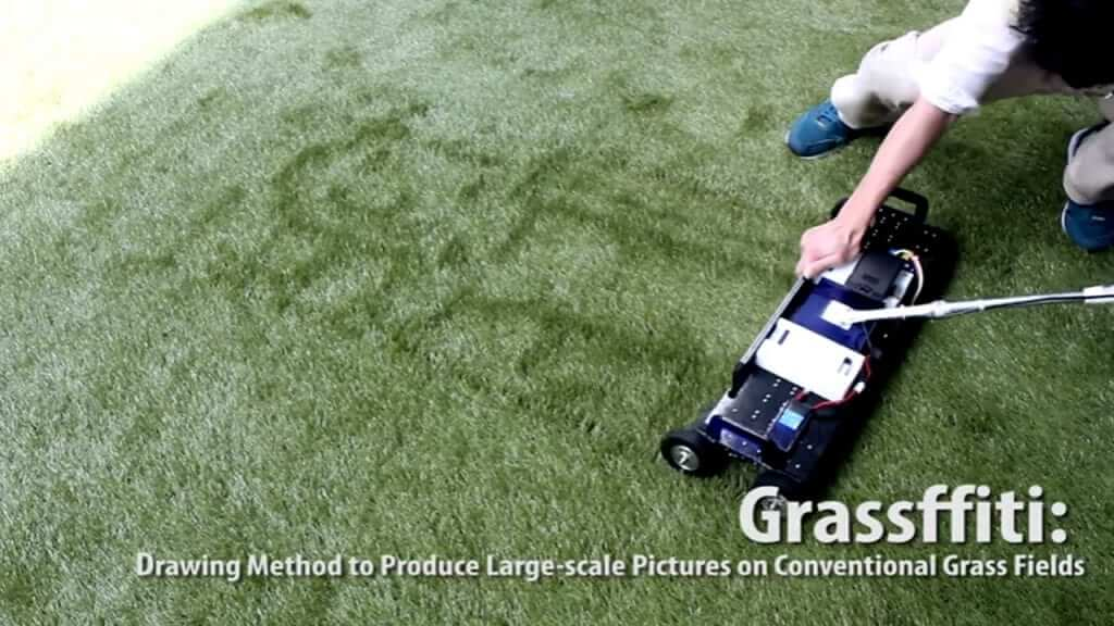 This Grassffiti Lawn Mower Can Draw On Your Yard!