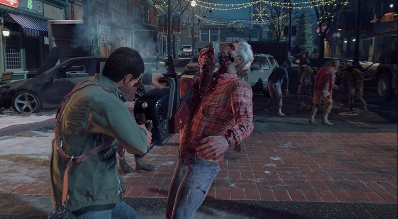 Chainsaw Zombie kill Dead Rising 4
