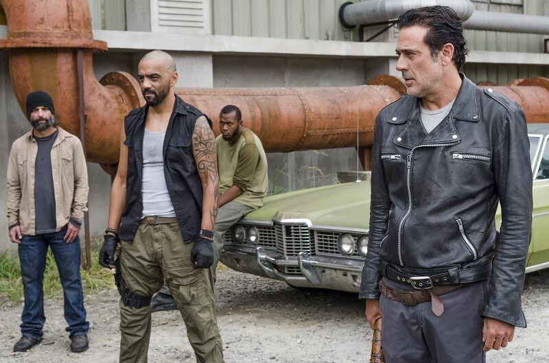 Negan and some Saviors looking mean