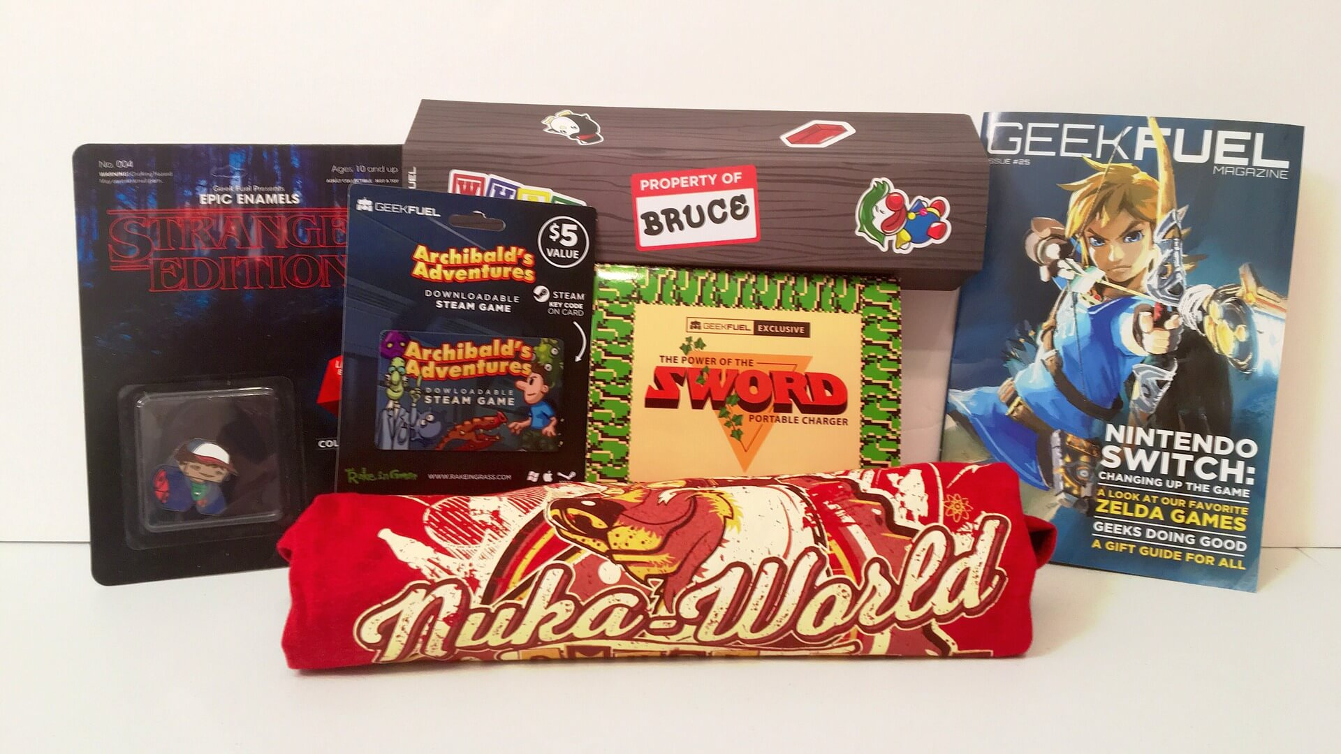 Geek Fuel:  February Box Brings Fallout, Batman, and Zelda - Review