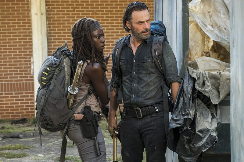 Rick and Michonne spend some time at the Carnival