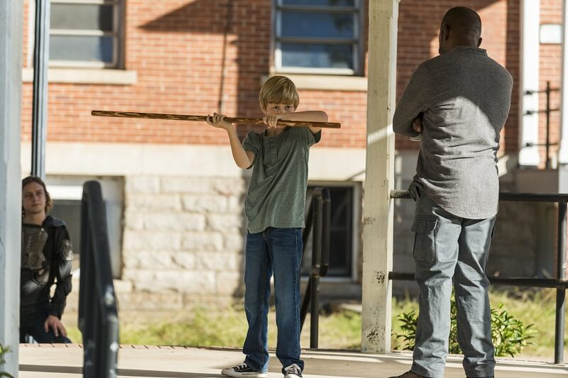 Morgan training Ben's brother on the Walking Dead
