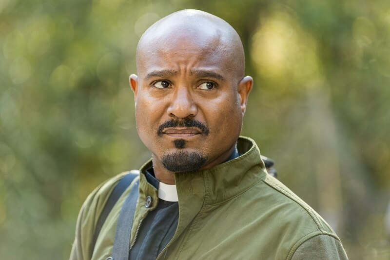 Father Gabriel at Oceanside on the Walking Dead
