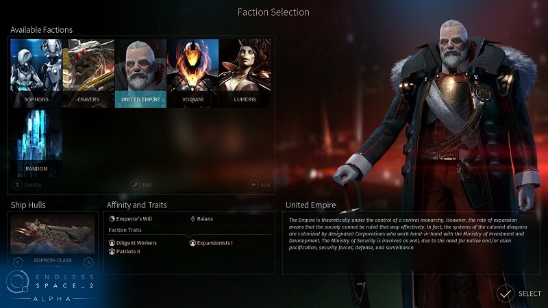 Endless Space 2 Factions