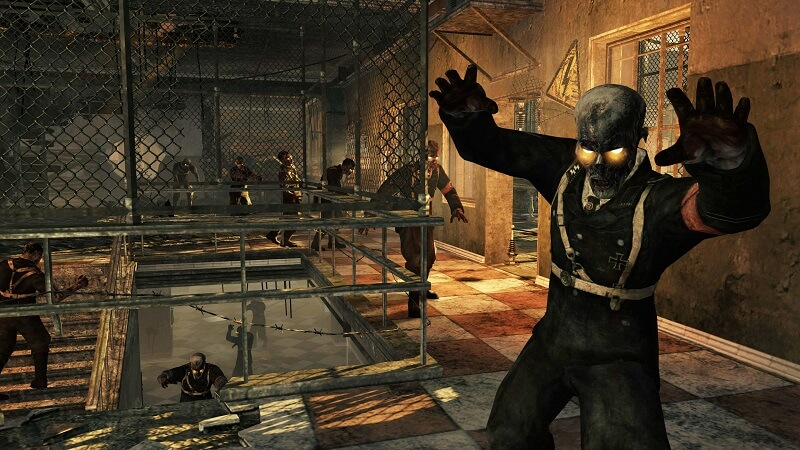 Call of Duty Nazi Zombie coming towards player
