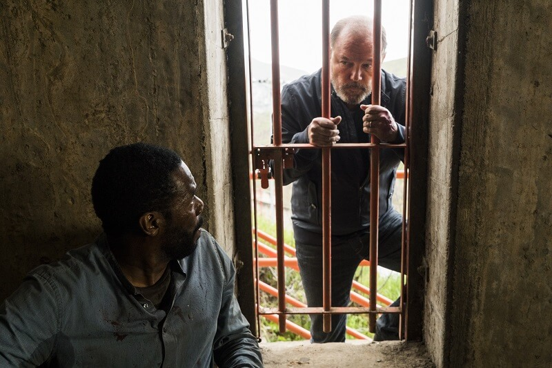 Colman Domingo as Victor Strand, Ruben Blades as Daniel Salazar - Fear the Walking Dead _ Season 3, Episode 3 - Photo Credit: Richard Foreman Jr/AMC