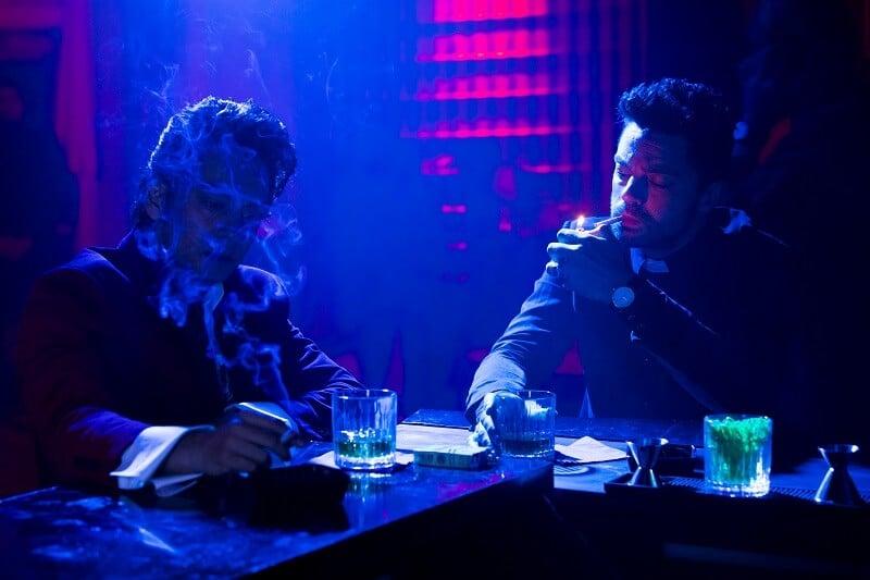 Dominic Cooper as Jesse Custer, Vik Sahay as Frank Patel - Preacher _ Season 2, Episode 2 - Photo Credit: Skip Bolen/AMC/Sony Pictures Television