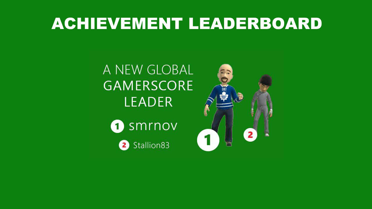 Stallioin83 Loses Top Spot On Global Achievements Leaderboard