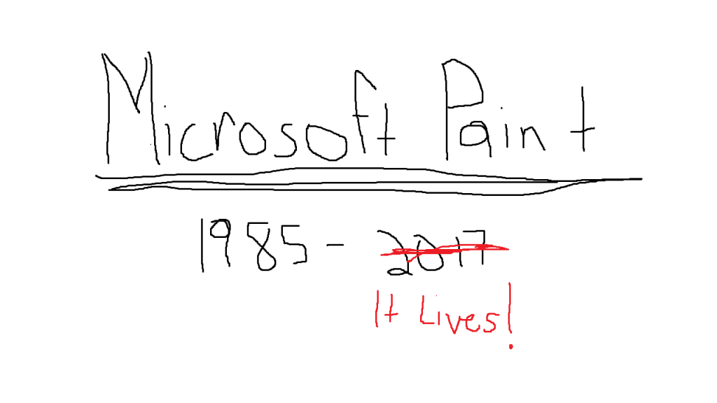 Microsoft Paint Given New Life Following an Outcry of Support