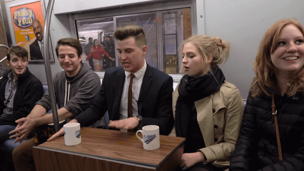 Derailed Late Night: The YouTube Talk Show on the NY Subway