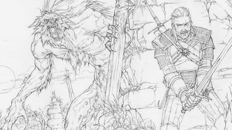 The Book Will Feature Many Similar Scenes Depicted In Hit CD Projekt Red Game Witcher 3 As Well Some Unique To Coloring With 45 Pieces