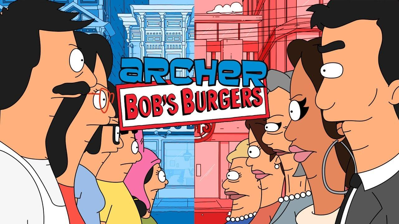 Check out the Archer and Bob's Burgers Crossover Made By Simon Chung