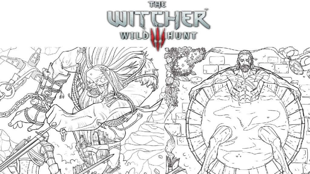 Color the Streets with Blood in The Witcher Adult Coloring Book