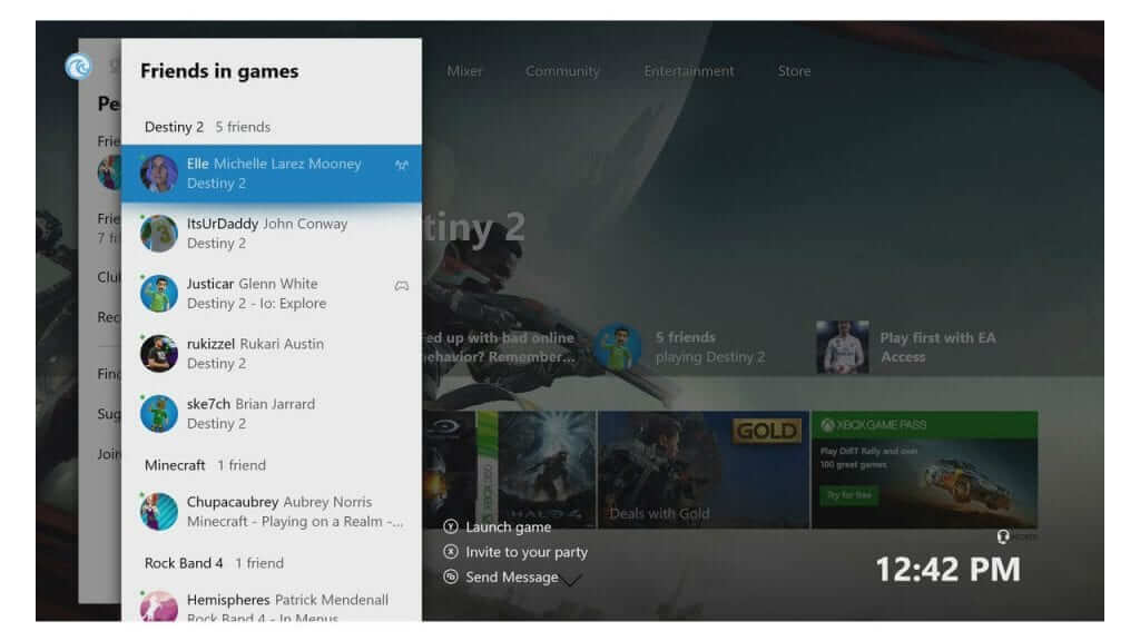 Xbox Insider Update Allows Users to Sort Friends By Games