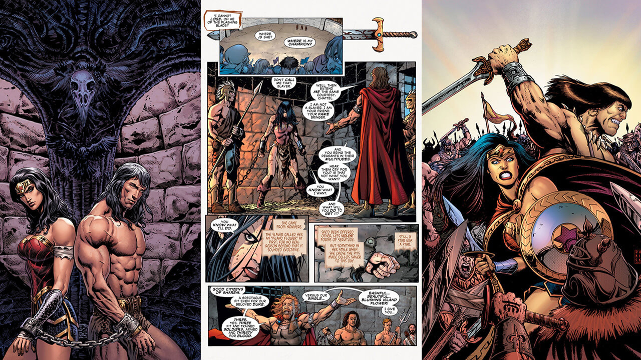 A First Look at the Wonder Woman and Conan The Barbarian Comics