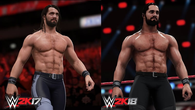 WWE 2K18 compared to WWE 2K17