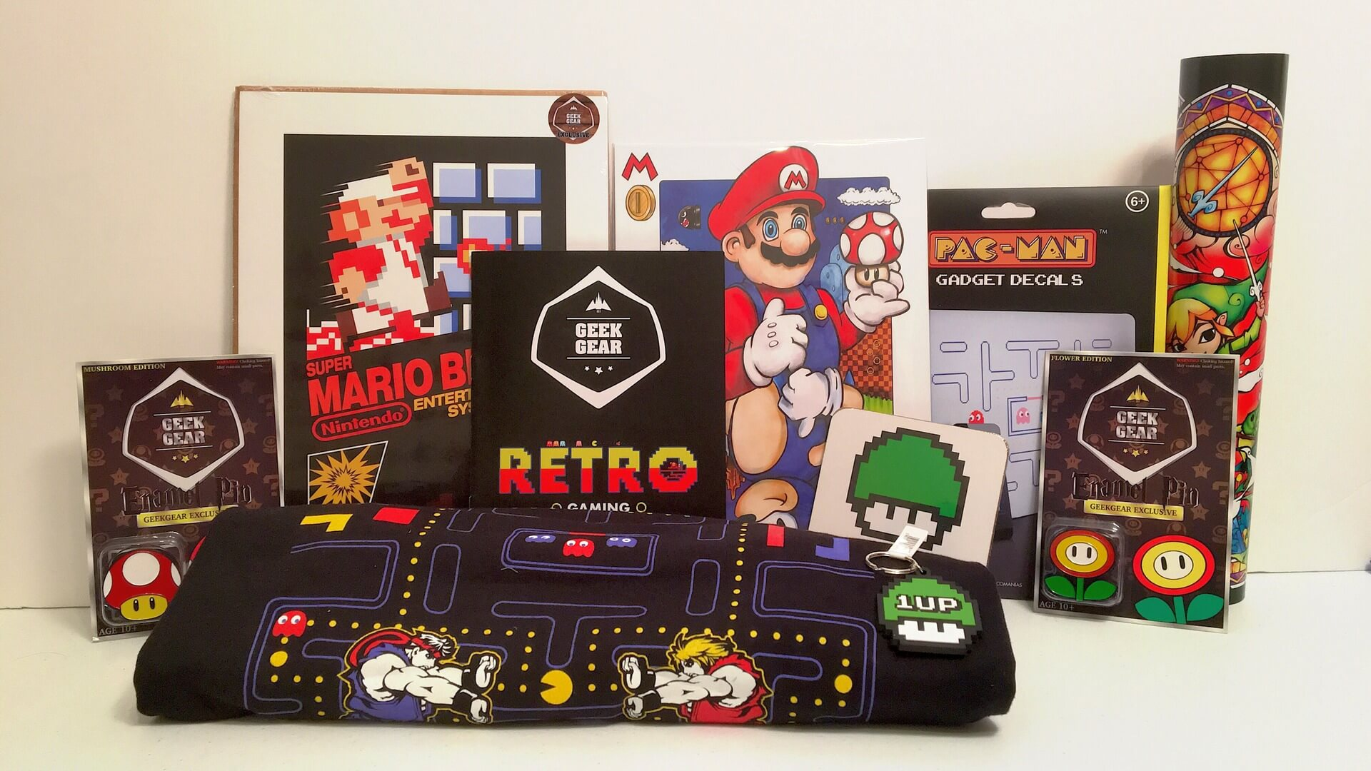Geek Gear: Retro Gaming with Mario, Sonic, Zelda and more! - Review
