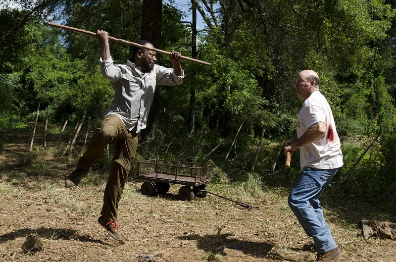 Lennie James as Morgan Jones and John Carroll Lynch as Eastman - The Walking Dead _ Season 6