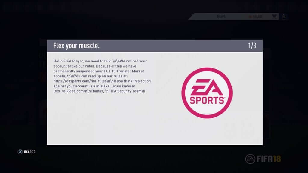 EA Has Banned Players from FIFA 18 That Have Never Owned the Game