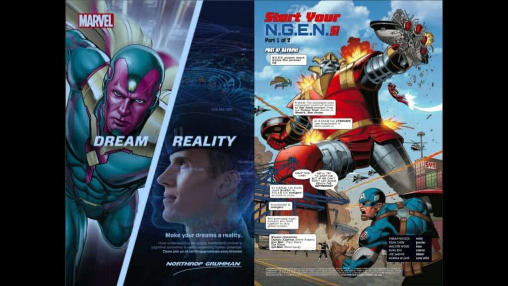 A Peek Into the Controversial Cancelled Marvel Northrop Grumman Comic