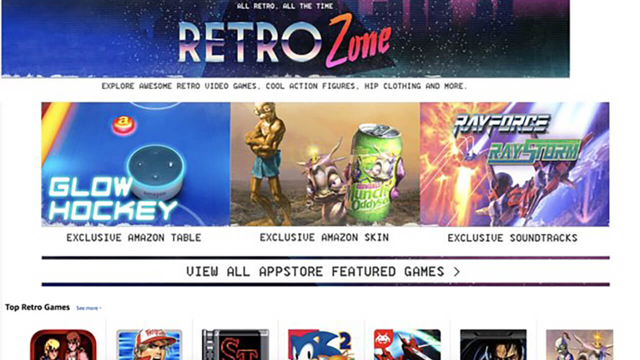Attention Classic Gamers: Amazon Unveils Retro Zone