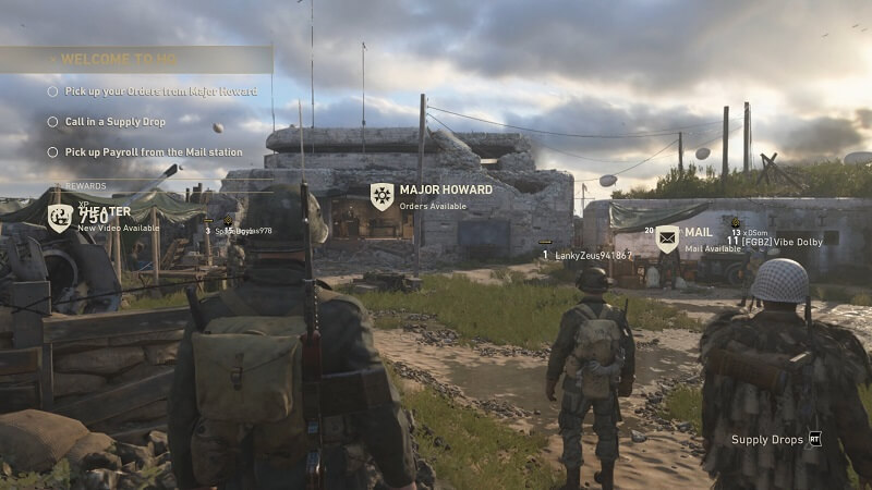 Call of Duty: WWII Headquarters area